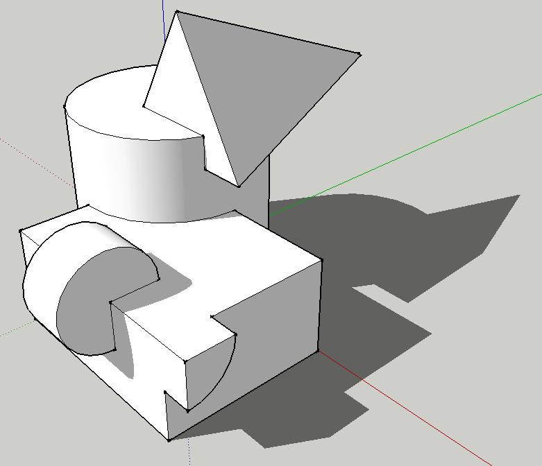 123 Sketchup! » Ändern - Modellieren in 3D