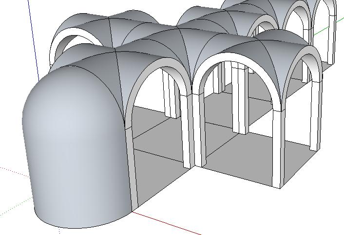 123 sketchup kreuzgratgew lbe modellieren in 3d. Black Bedroom Furniture Sets. Home Design Ideas