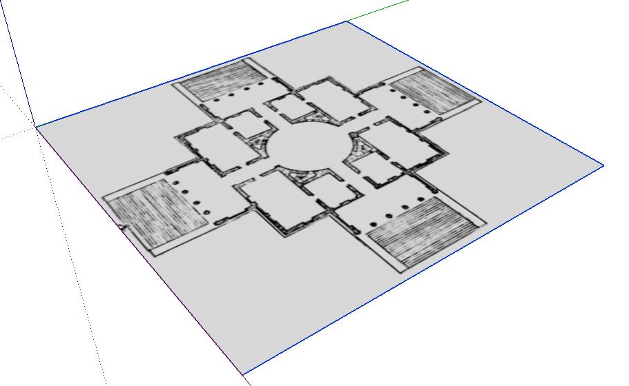 Grundrisse Zeichnen Mit Sketchup : Als Bild in Sketchup importiert sieht er perspektivisch dann so aus