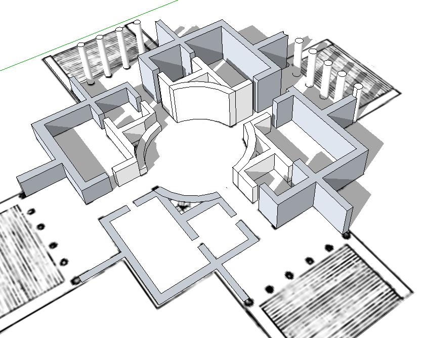 Grundriss villa 3d  123 Sketchup! » Grundriss - Modellieren in 3D