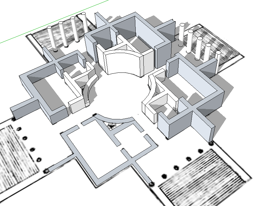 123 Sketchup! » Grundriss - Modellieren in 3D