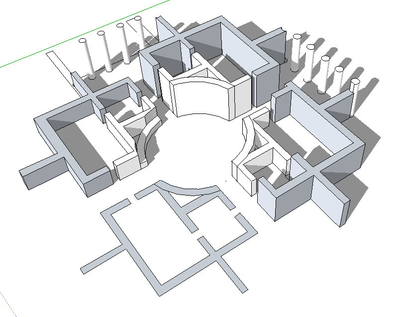 Grundrisse Zeichnen Mit Sketchup : 123 Sketchup! » Grundriss  Modellieren in 3D