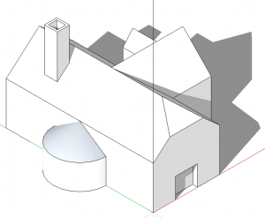 sketchup perspektive parallele projektion 01