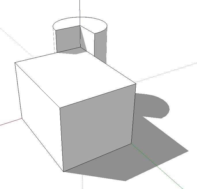 123 sketchup achsen im raum modellieren in 3d for 3d raum zeichnen