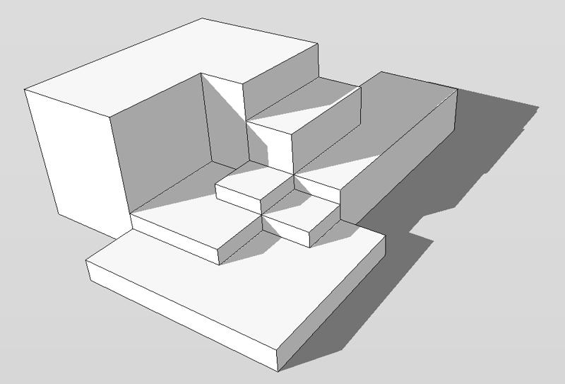 123 sketchup rechtecke modellieren in 3d. Black Bedroom Furniture Sets. Home Design Ideas