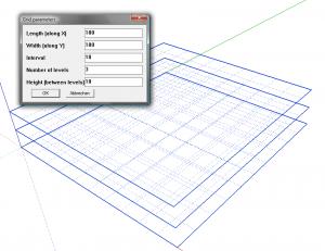 Sketchup Plugin 3D-Grid