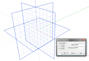 Sketchup Plugin Construction Grid